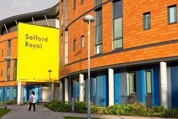 A photo of Salford Royal Hospital
